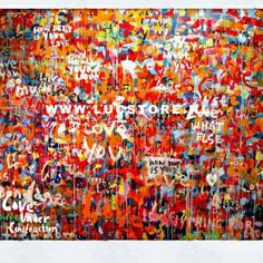 TITLE: I WANT YOUR LOVE 2010 SIZE : 200X200  MATERIAL : MIXED MEDIA ON CANVAS