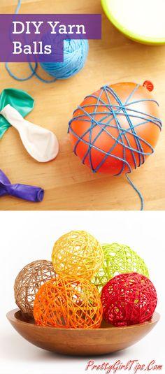 @prettygirltips DIY Yarn Balls