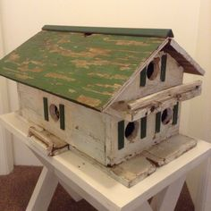 Early 1950's bird house. Wonder how many feather friends nested with their babies.