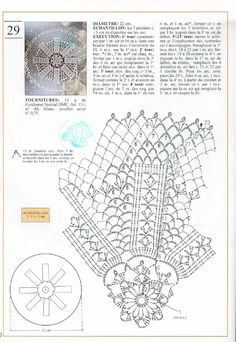 Photo from album Mailles Nomero special hors-serie Le crochet on Yandex. Crochet Doily Diagram, Crochet Doily Patterns, Thread Crochet, Filet Crochet, Crochet Motif, Crochet Doilies, Crochet Coaster, Hardanger Embroidery, Paper Embroidery