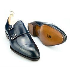 zapatos de cordovan marino Me Too Shoes, Men's Shoes, Shoe Boots, Dress Shoes, Shoes Men, Leather Men, Leather Shoes, Mens Monk Strap Shoes, Cordovan Shoes