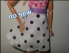 how to make doll skirt, circle skirt, no sew, doll clothes (How To Make Dress Circle Skirts)