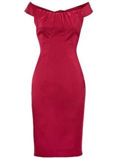 Bqueen Two Little Shoulder Red K182R,  Dress, Bqueen Two Little Shoulder Red, Chic