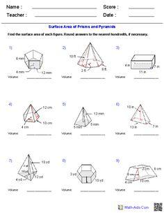worksheet. Volume Of Pyramid Worksheet. Grass Fedjp Worksheet ...