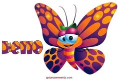 beautiful cartoon butterfly