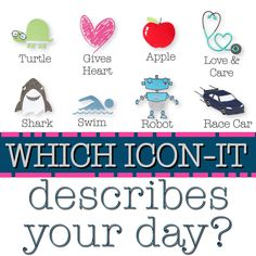 Which Thirty-One icon-it describes your day? Fun Facebook interaction post for your VIP group! #ilovemybaglady
