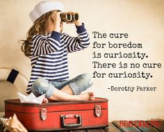 """Dorothy Parker said, """"The cure for boredom is curiosity. There's no cure for curiosity."""" Delight-directed Learning  takeS curiosity to the next level."""