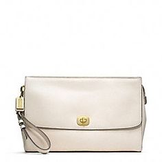 LEGACY PINNACLE LEATHER ZIP CLUTCH WITH FLAP Coach Legacy 19900678fbc78