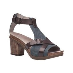 Women's Dansko Dominique Sandal - Grey Leather Casual (215 CAD) ❤ liked on Polyvore featuring shoes, sandals, grey, grey leather sandals, real leather shoes, gray shoes, dansko sandals and leather sandals