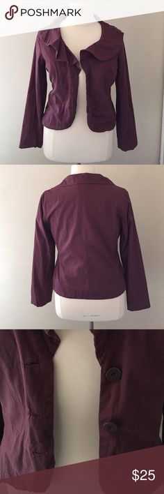 Jacket by Odille, 14 Gently used jacket by Odille, size 14. Very stylish. Purchased at Anthropologie. Dusty raisin color. Odille Jackets & Coats Blazers
