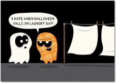 Scary Laundry - Halloween Cards from Treat.com #trickorTREAT #ghost