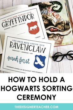 Are you reading Harry Potter and the Sorcerer's Stone with your students? Learn how to hold a Hogwarts Houses Sorting Ceremony! Harry Potter House Sorting, Harry Potter Teachers, Harry Potter Library, Harry Potter Classes, Harry Potter Activities, Cumpleaños Harry Potter, Harry Potter School, Harry Potter Classroom, Harry Potter Birthday