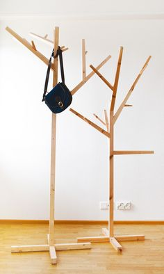 Coatracks made of recycled materials. Design by Jaakko Mäntylä