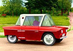 1958 WFM Fafik (by Polish company Warszawską Fabrykę Motocykli). Microcar, Weird Cars, City Car, Unique Cars, Small Cars, Car Humor, Old Cars, Fast Cars, Custom Cars