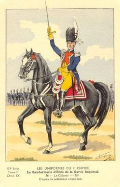 French; Imperial Guard, Gendarmes d'Elite, Colonel, 1810