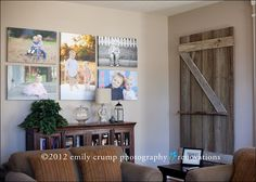 Gorgeous large format gallery wall (Emily Crump Photography)