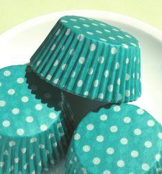 green dot cupcake liners