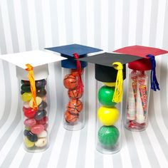 Graduation Favors  Graduation Cap Candy Tube set of by KDODesigns
