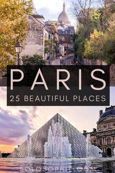 Places in Paris you wont' want to miss off your France bucket list. Looking for the most beautiful locations and streets in Paris, the City of Love? Here's your complete guide to the best of the French capital