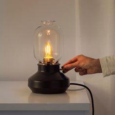 TÄRNABY Bordslampa, svart antracit - IKEA