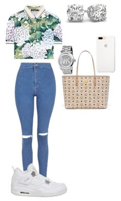 """67"" by manii13k on Polyvore featuring Dolce&Gabbana, Topshop, MCM and Michael Kors"