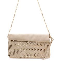 Laser Cut Foldover Kate Clutch
