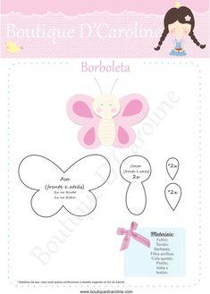 borboleta feltro molde - Pesquisa Google