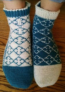 I wanted to make some reversible slipper socks that were also really warm so I decided to try making these socks using double knitting. It was quite challenging to figure out parts of the sock using double knitting, especially the toe at the very beginning, so I recommend tackling this pattern only if you have sock experience and double knitting experience. This could be a fun pattern to try as your first double knitting project, but it could be a bit frustrating, so beware! There's a great…