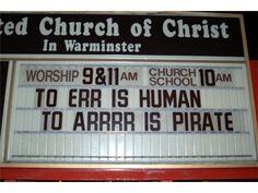 Pirate church sign!