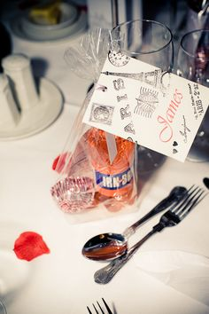 Irn Bru and Tunnocks Tea Cake DIY Wedding Favour - Image Wilson McSheffrey