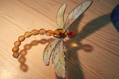 Stained-glass dragonfly by wyrwanazramistnienia.deviantart.com on @DeviantArt