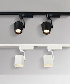 LEDlux Action 2 Light Dimmable White Oval Track Spot Kit in Warm White | Spotlights | Lighting