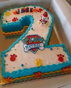birthday cake ideas for girls, birthday cake ideas avengers, birthday cake ideas boy Paw Patrol Birthday Cake, 2 Birthday Cake, Paw Patrol Party, Twin Birthday, 3rd Birthday Parties, Birthday Ideas, Paw Patrol Cake Toppers, Paw Patrol Cupcakes, Number Cakes