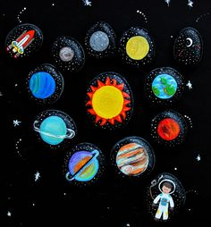 Awesome was to teach kids about the Solar System with painted rocks / story stones.
