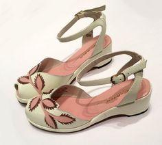 Flora, Wedges - Re-Mix Vintage Shoes