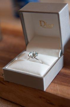 Gorgeous Dior Diamond Engagement Ring // white gold // platinum // solitaire // round cut