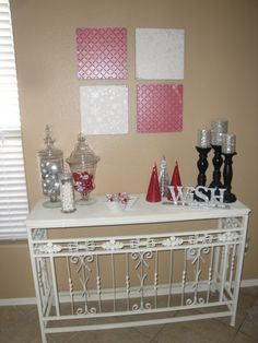 Christmas Decor: Red and Silver! - I Heart Nap Time