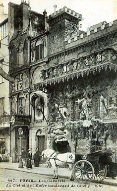 Le Cafè de L'Enfer, at 55 Boulevard de Clichy, Montmartre, Paris. (Parisian Hell-themed cafè and cabaret, first opened in the late 19th century).