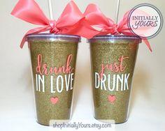 Drunk In Love Bachelorette Party Tumbler von shopInitiallyYours