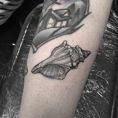 #blackworkers #blackworktattoo #blackwork #dotwork #dotworktattoo #dotworkers #btattooing #seashell #shell #tattoo #northsidetattooz #northsidetattoozwhitleybay @northsidewhitleybay Blackwork, Shell Tattoos, Dot Work, Tattoo Inspiration, Tatting, Skull, Bobbin Lace, Needlework, Conch Shell Tattoos