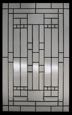 Stained Glass Door Inserts - Waterfall 22x36 Patina Stocked by Randal's Wrought Iron & Stained Glass serving the Greater Toronto Area and surrounding areas.