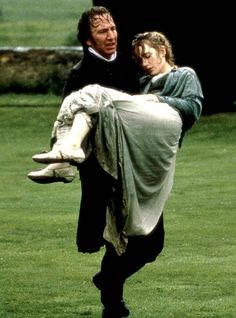 Alan Rickman (Colonel Christopher Brandon) & Kate Winslet (Marianne Dashwood) - Sense and Sensibility (1995) #janeausten #anglee