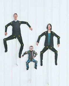 These better-than-family-portraits dancing family cutouts.