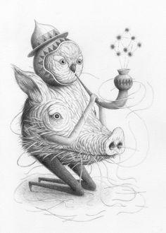 Nick Sheehy - Bird-headed Pig-Bodied Pipe Man