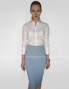 Business Look, White Shirts, Elegant Woman, Dress Codes, Sexy Outfits, Looks Great, High Waisted Skirt, Virtual Closet, Teenagers