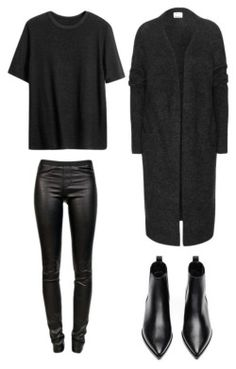 All black with leather ChaqueJourSonLook