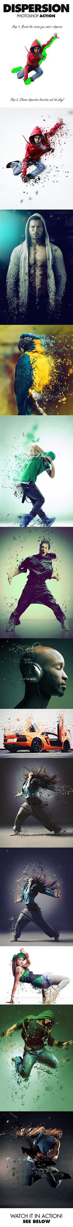 Dispersion Photoshop Action - Photo Effects Actions Photography Editing Digital Painting Tutorial Lightroom, Photoshop Effekte, Effects Photoshop, Photoshop Illustrator, Photoshop Elements, Photoshop Tutorial, Photoshop Photography, Photography Tutorials, Digital Photography