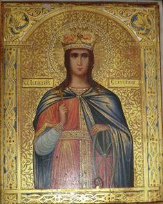 Икона Св.Великомученицы Екатерины, на золоте