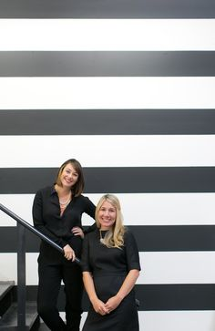 Striped wall | Sugar Paper Office Tour. Photographed by Bryce Covey for Glitter Guide