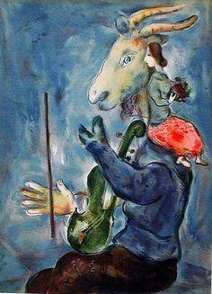 'printemps', lithographie de Marc Chagall (1887-1985, Belarus)
